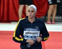 Olympian swimmer Evelyn VERRASZTO HUN. Hong Kong, China - Oct 29, 2016. Olympian swimmer Evelyn VERRASZTO HUN at the start in Women`s Freestyle 200m Final. FINA Stock Photo