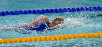 Olympian swimmer Evelyn VERRASZTO HUN Royalty Free Stock Images