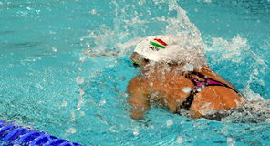 Olympian swimmer Evelyn VERRASZTO HUN. Hong Kong, China - Oct 29, 2016. Olympian swimmer Evelyn VERRASZTO HUN at swimming in Women`s Freestyle 200m Final. FINA Stock Photo