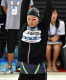 Olympian swimmer Zsuzsanna JAKABOS HUN. Hong Kong, China - Oct 29, 2016. Olympian swimmer Zsuzsanna JAKABOS HUN at the start in Women`s Freestyle 200m Final Stock Photography