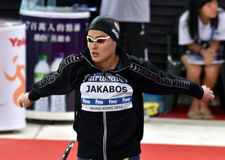 Olympian swimmer Zsuzsanna JAKABOS HUN. Hong Kong, China - Oct 29, 2016. Olympian swimmer Zsuzsanna JAKABOS HUN at the start in Women`s Freestyle 200m Final Stock Photo