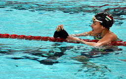 Olympian swimmer Zsuzsanna JAKABOS HUN Royalty Free Stock Images