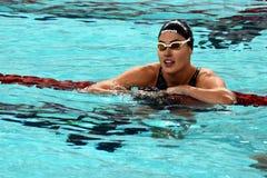 Olympian swimmer Zsuzsanna JAKABOS HUN. Hong Kong, China - Oct 29, 2016. Olympian swimmer Zsuzsanna JAKABOS HUN after the Women`s Freestyle 200m Final. FINA Royalty Free Stock Photos