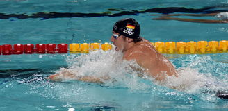 Olympian, world champion and record holder swimmer Marco KOCH GER Stock Photography