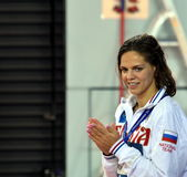 Olympian and world champion swimmer Yulia YEFIMOVA RUS Royalty Free Stock Images