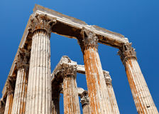 olympian zeus ναών της Αθήνας στοκ εικόνα