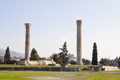 olympian zeus ναών της Αθήνας Στοκ φωτογραφίες με δικαίωμα ελεύθερης χρήσης
