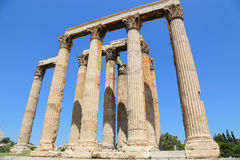 Ναός Olympian Zeus, Αθήνα, Ελλάδα Στοκ Εικόνες