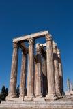 Olympian Zeus-tempel in Athene Stock Afbeeldingen
