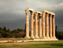 Olympian Zeus Temple. Amazing ruins of a temple in Athens, Greece stock photo