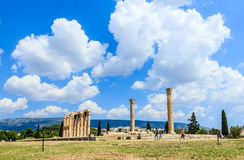 Olympian zeus temple. Ancient temple of Olympian Zeus of Athens, Greece, Europe in summertime Stock Photography