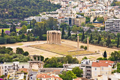 Olympian Zeus temple, Athens Stock Photography