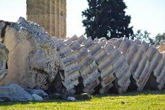 Olympian Zeus temple Stock Image