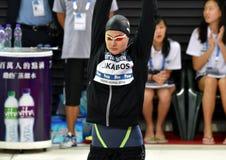 Olympian zwemmer Zsuzsanna JAKABOS HUN Stock Afbeeldingen
