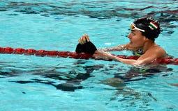 Olympian zwemmer Zsuzsanna JAKABOS HUN Royalty-vrije Stock Afbeeldingen