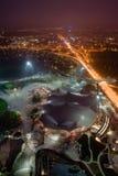Olympiapark夜视图在慕尼黑 免版税图库摄影