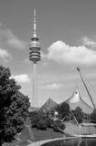 Olympiapark的体育场在慕尼黑 免版税图库摄影