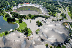 Olympiapark的体育场在慕尼黑 库存照片