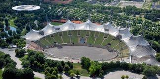 Olympiapark的体育场在慕尼黑 免版税库存照片