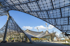 Olympiapark的体育场的屋顶 免版税图库摄影