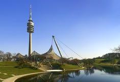 Olympiapark,慕尼黑奥林匹克体育场 库存图片