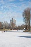 olympiapark de lac de glace Images stock