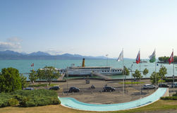 Olympiapark in Lausanne, die Schweiz Lizenzfreie Stockbilder