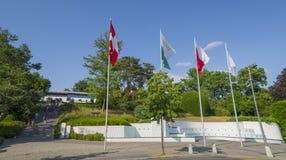 Olympiapark in Lausanne, die Schweiz Lizenzfreies Stockbild