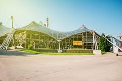 Olympiapark Munchen entrance sunny day, Royalty Free Stock Photography
