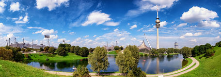 Olympiapark - munich Foto de Stock Royalty Free