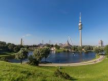 Olympiapark teren, Monachium Niemcy zdjęcie stock