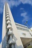 Olympiastadion的塔 免版税库存图片
