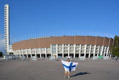 Olympiastadion赫尔辛基 图库摄影