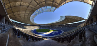 Olympiastadion (Berlin). Panorama of the Olympic stadion in Berlin, Germany Stock Photography