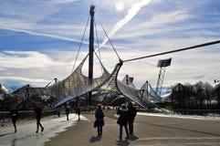 Olympiastadion, entrada de Munich do estádio foto de stock