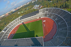 Olympiastadion. HELSINKI FINLAND SEPTEMBER 25 2015:  Olympiastadion (Olimpic stadium), located in the Toolo district the largest stadium in the country centre of Stock Photos