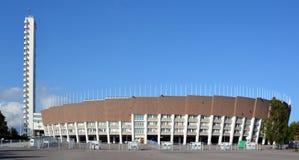 Olympiastadion (Olimpic体育场)和塔,赫尔辛基 免版税图库摄影