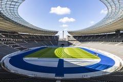 Olympiastadion Olimpijski stadium w Berlin, Niemcy zdjęcie stock