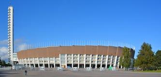 Olympiastadion Olympische stadion en toren Stock Afbeelding