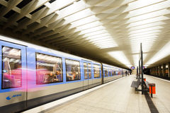 Olympiazentrum gångtunnelstation i Munich Royaltyfria Bilder