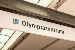 Olympiazentrum subway station Royalty Free Stock Photos