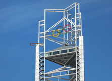Olympic. Sign in the stadium ,Beijing,China Stock Image