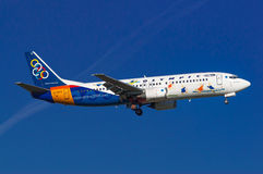 Olympic Airlines Boeing 737 Stock Images
