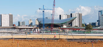 Olympic Aquatic Centre under consruction Stock Photos