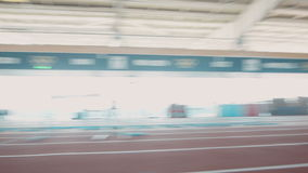 Olympic athlete does running exercises stock video footage