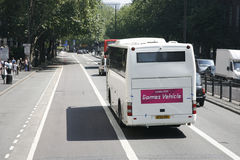 Olympic athletes' bus Stock Photos