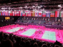 Olympic Badminton. Badminton at the 2012 Olympics in London, UK Stock Images