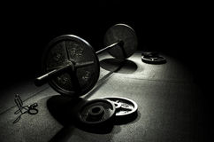 Olympic Bar and Plates royalty free stock image