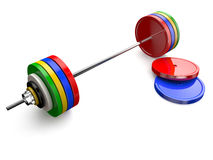 Olympic barbell Royalty Free Stock Images