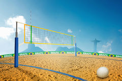 Olympic Beach volley. In Brazil summer games Royalty Free Stock Photography
